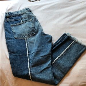 Topshoo Moto Jeans L 30 W 30 Cropped Straight